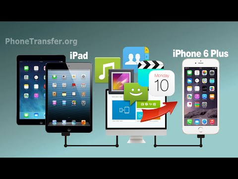 How to Transfer Videos, Photos, Music, Contacts from iPad/iPad Mini/iPad Air to iPhone 6 Plus