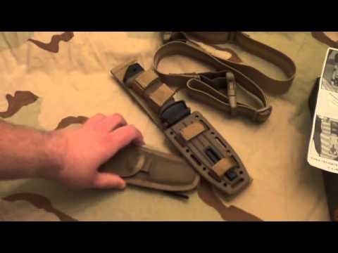 Gerber  LMF II 2 ASEK Coyote Brown Survival Knife & SEAT  Belt Cutter - initial impressions