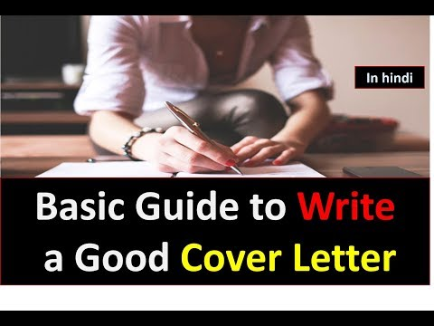 Basic Guide to Write a Good Cover Letter in HINDI