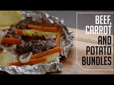 Beef, Carrot & Potato Bundles