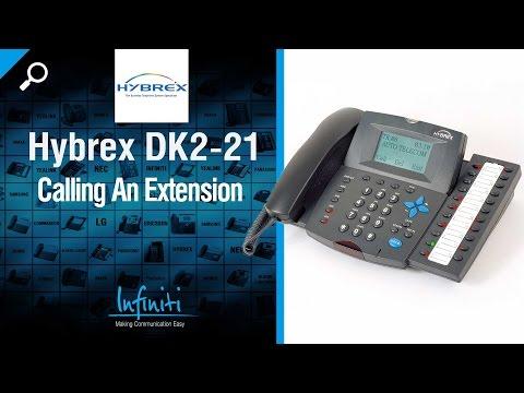 Hybrex DK2-21 Phone Handset - Calling An Extension [Infiniti Telecommunications]
