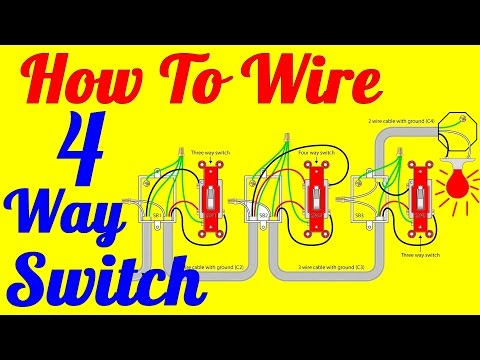 4 Way light Switch Wiring Diagram (How To Install)