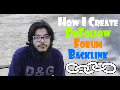How I Create DoFollow Forum Backlink