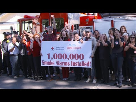 Wendy Williams helps the American Red Cross install their 1 millionth smoke alarm