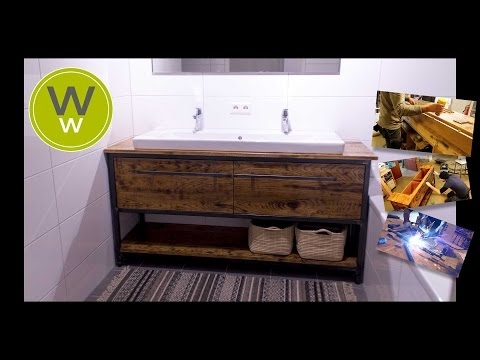 Beautiful bathroom vanity cabinet, industrial design
