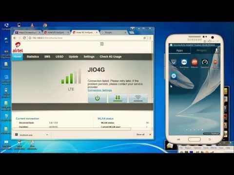 Jio APN setting in airtel , vodafone  huawei wifi router