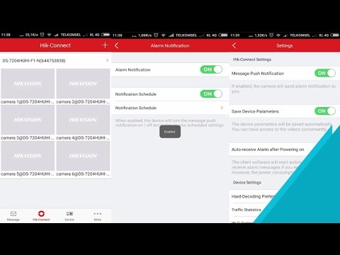 Hik-Connect | How To Enable and Disable Alarm Notification On Android App
