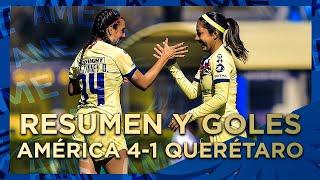 Resumen y goles Femenil: América 4-1 Querétaro | Clausura 2020 | Coapa