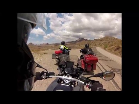 Historic Route 66 - Motorcycle ride from Oatman over Black Mountains