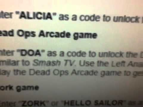 call of duty black ops cheat codes