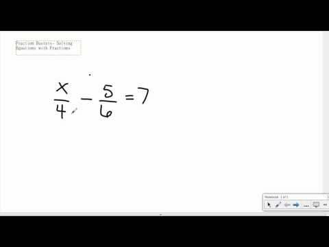 Fraction Busters-Solving equations with fractions