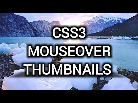 Thumbnail Hover Effects Using CSS3 (Hindi/Urdu)