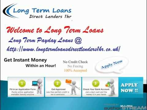 Long Term Payday Loans | 6 & 12 Month Loans | No Credit Check Loans | Bad Credit Loans