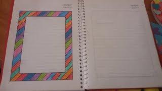 #x202b;تزيين دفاتر المدرسة( لين )على شكل قوس قزح ........ How To Decorate Your Notebook#x202c;lrm;