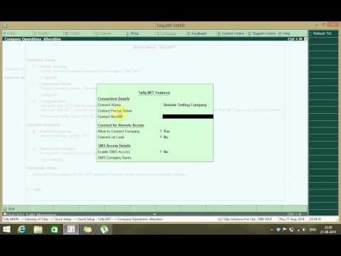 Tally.ERP9 Tally.NET Remote Settings   Before (REL 4.93)