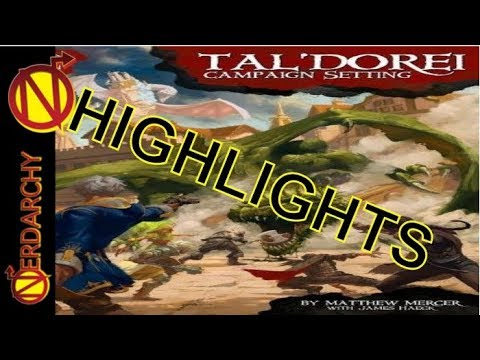 NEW 5E D&D Magic-Item Options Highlights from Critical Role Tal'Dorei Campaign Setting