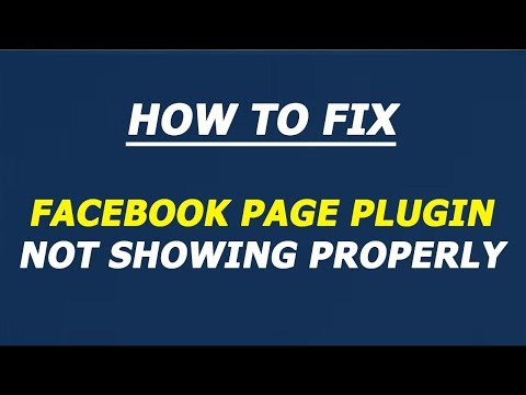 How to fix facebook page plugin not showing properly