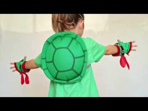 Easy DIY TMNT costume for girls.