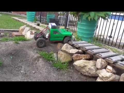 Rc 4x4 trucks - Homemade rc car track - SCX10 jeep truggy