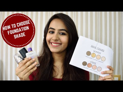 HOW TO CHOOSE THE PERFECT FOUNDATION SHADE IN L'OREAL, MAYBELLINE & LAKME