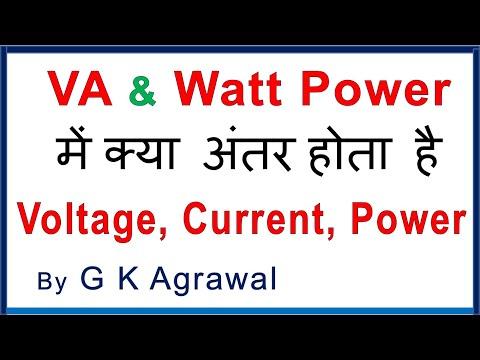 VA & Watt Power difference in Hindi & Reactive power