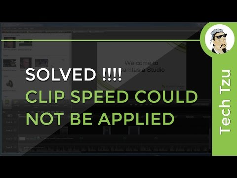 Clip Speed Could Not Be Applied SOLVED!