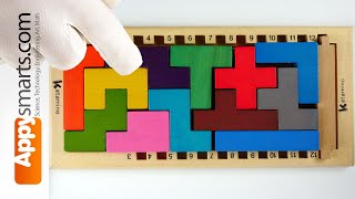 Challenging Wooden Blocks Logic Puzzle Game Tetris Style - Can You Solve With US [ASMR, 4K video]