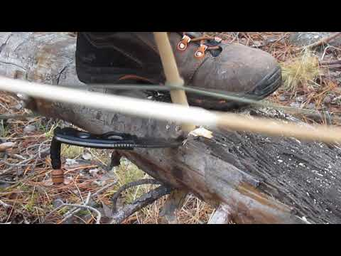 Bow drill on wet log #2