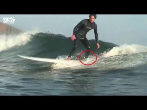 Surfing Basics - Pop Up, Drop, Trim & Turn. Goofy Version.