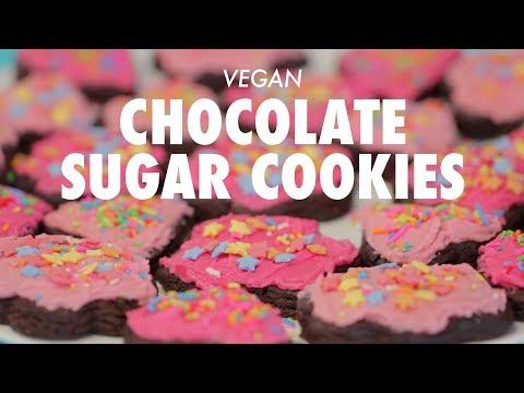 Vegan Chocolate Sugar Cookies - Loving It Vegan