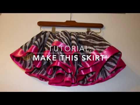 DIY TUTORIAL: organza skirt tutu with ribbon trim
