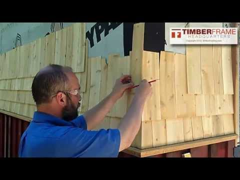 How to Install Cedar Shingles with a Weaved Corner