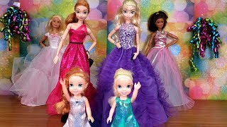 Download Fashion Show ! Elsa and Anna toddlers - Barbie - fashionista - dress up Video