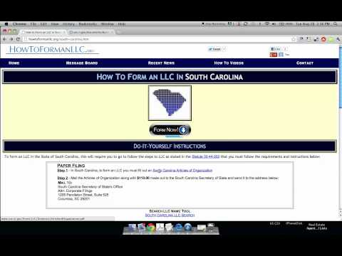 How to Form an LLC in South Carolina