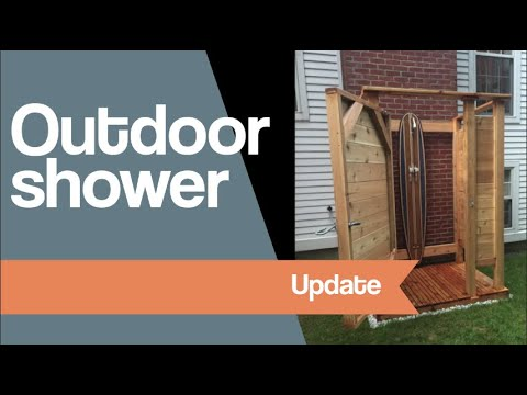 Outdoor shower update