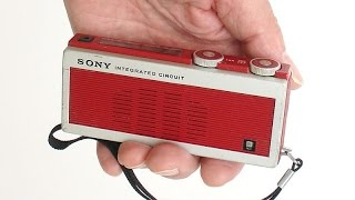 Sony INTEGRATED CIRCUIT transistor radio Japan one of 1st IC products ICR-200 at collectornet.net