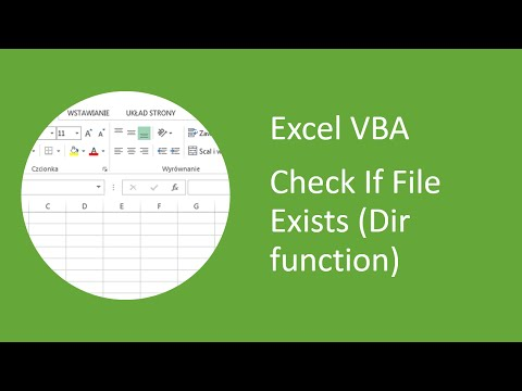 Excel VBA - How to Check if File Exists (Dir function)