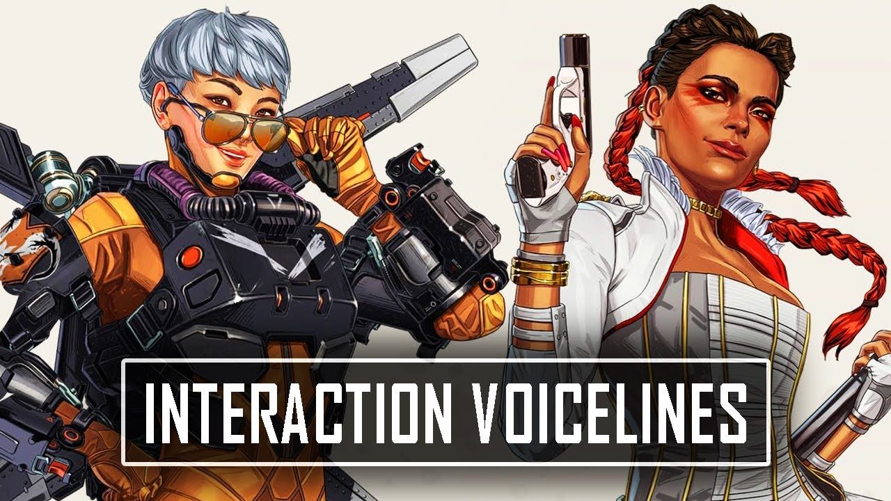 *NEW* LOBA VALKYRIE & BANGALORE Interaction Voicelines - Apex Legends Season 10