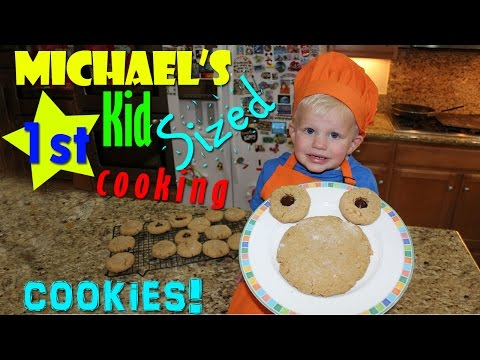 Kid Size Cooking:  Peanut Butter Cookies