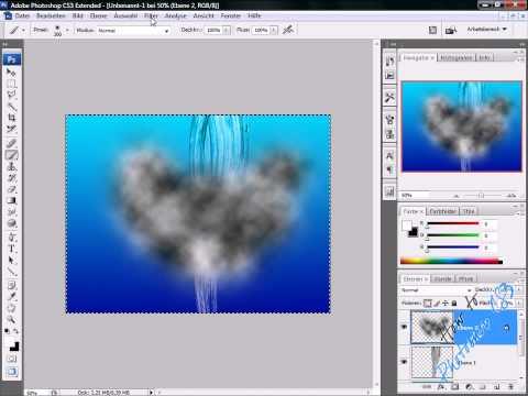 [GER] Photoshop CS3 Tutorial: Water Jet + Splash [HD]