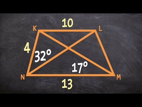 How to determine the missing measures of an isosceles trapezoid