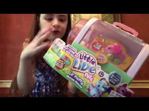 Little Live Pets Lil Fluffy Mouse House Unboxing and Review