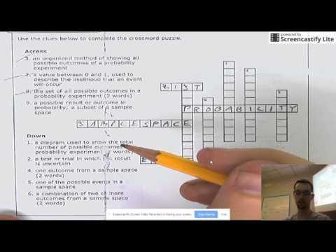 3.4 Homework Vocab Crossword Puzzle
