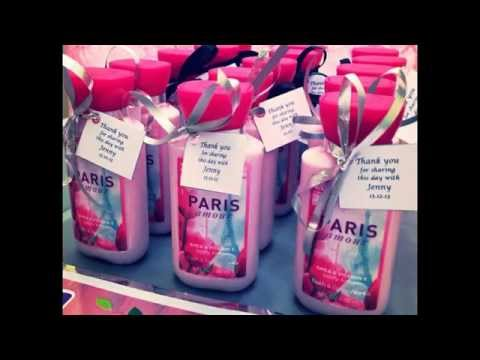 Bridal shower party favors decorating ideas