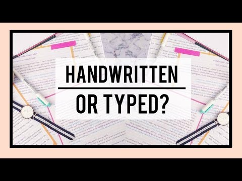 Typed vs. Handwritten Notes