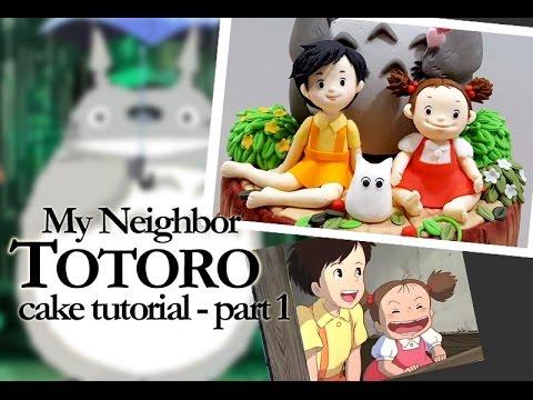 ::sugarcraft::totoro cake - part1(Satsuki & Mei) 토토로케이크~! 1편 사츠키 메이 만들기