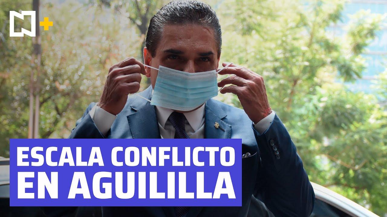 Toman palacio municipal de Aguililla tras agresión de Silvano Aureoles a profesor