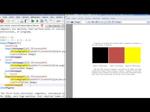 Week 3   Latex Tutorial   Lecture 003 Insert Images Side by Side in Latex