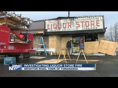 Investigating liquor store fire