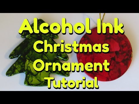Alcohol Ink CHRISTMAS ORNAMENTS Tutorial!  With Heat Gun or Hair Dryer!